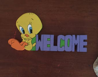 Any character welcome sign made to order one of a kind originals