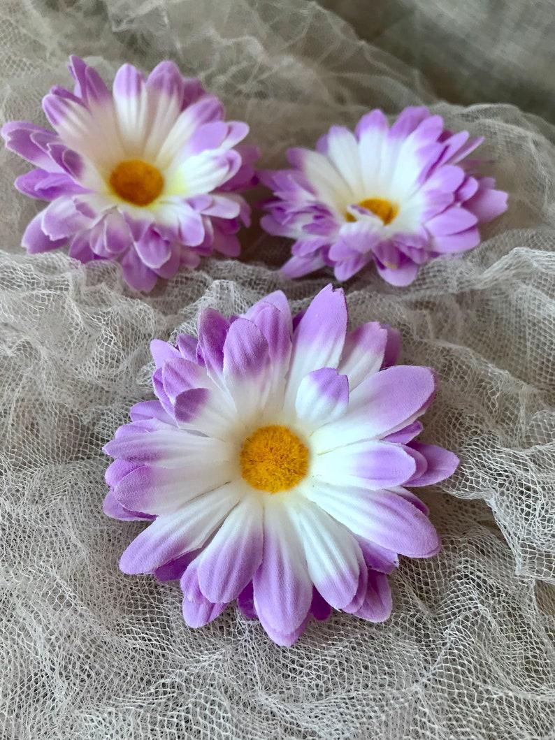 Artificial Flowers Silk Flowers 5 Lavender Gerber Daisies Hair Accessories DIY Wedding Artificial Daisy Flower Crown Millinery
