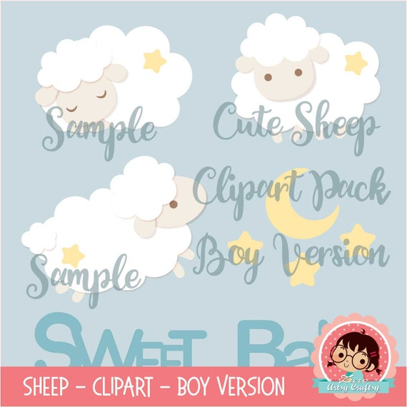 Sheep Clipart and Cut File PACK, Cute Sheep, Sheep Baby Shower clipart,  Sheep Cut File, Silhouette, Cricut, dxf, svg, eps, png, Baby Shower