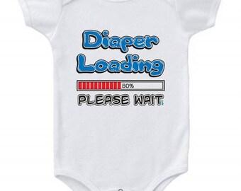 0cef0b521 Diaper Loading Funny Baby Romper