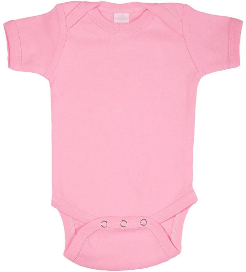 e5c2c71cd Pink Plain Baby Bodysuit One Piece | Etsy