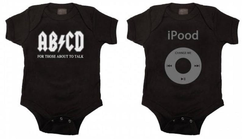 375d38e83 Funny Baby Bodysuit Gift Set Black | Etsy