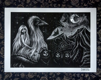 We Ride with the Night signed A4 giclee print