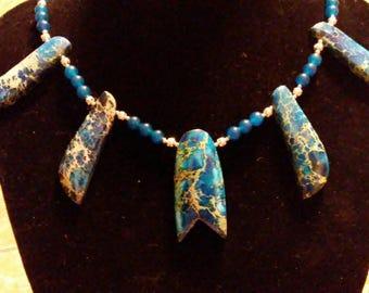 Blue ocean stones