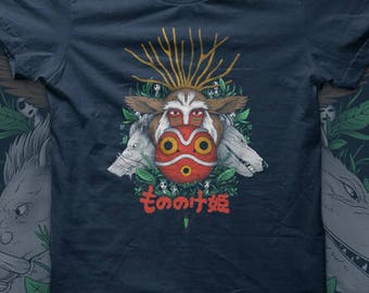 Forest Spirit - Princess Mononoke - Ghibli t shirt - anime