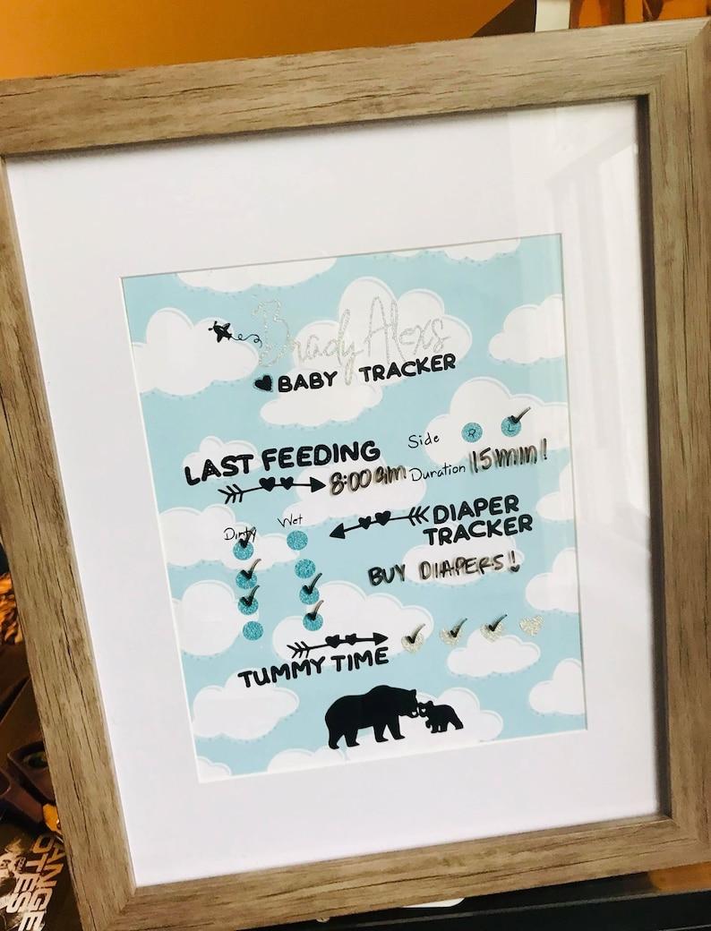 Baby Feeding Tracker Dry Erase Frame