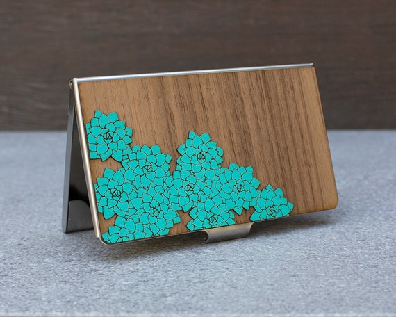 Card case women free engraving business card holder credit reheart Gallery