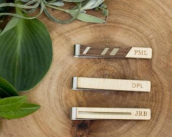 Groomsmen Tie clip, wedding tie clip, groomsman gift, monogram tie bar, tie bar, engraved tie bar, minimalist tie clip, simple tie bar
