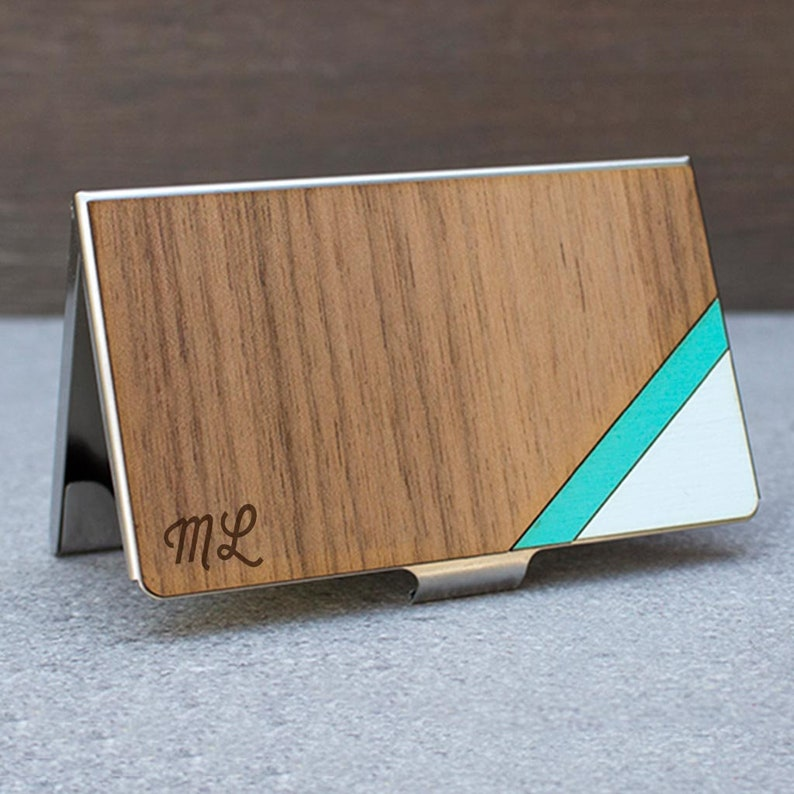 Kartenetui Kreditkartenetui Visitenkartenetui Kostenlose Gravur Holz Kartenetui Kreditkarte Brieftasche Kartenhalter Kartentasche Holz