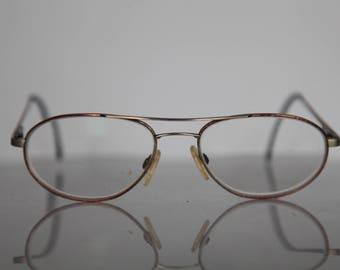 3c3db0572f7548 Vintage CIEL CONNER lunettes, cadre en Bronze aviateur, lentilles claires  RX Prescription. Pièce rare. Fabriqué en Allemagne