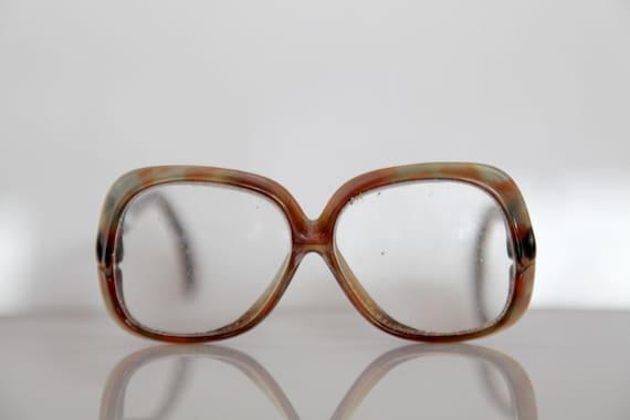 46172bcb5f8 Vintage SILHOUETTE eyewear Crystal Mylticolor Pattern Frame