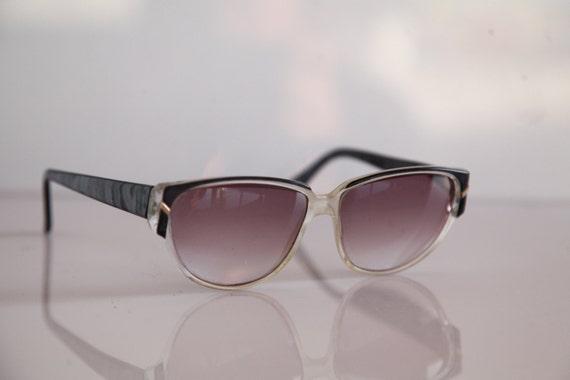 e28999948e8 Vintage SILHOUETTE eyewear Crystal Frame Black Marble