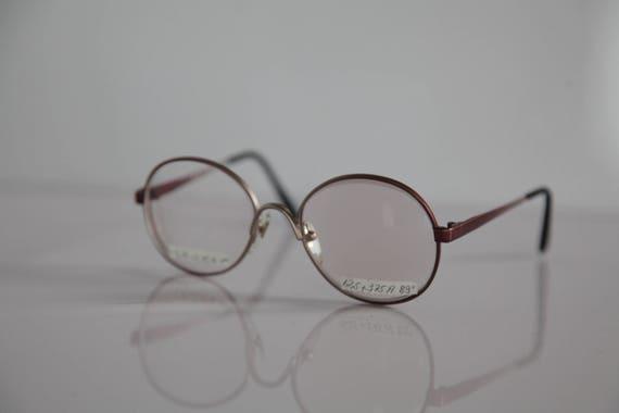 df6ec0ec7ab Vintage Grading Metallic Red Frame Clear RX Prescription