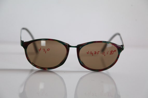 a0c41a67f8d Vintage NIGURA EyewearRed-Green Frame Tinted Prescription