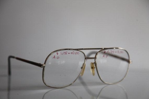 b2282dc819e Vintage APOLLO-OPTIK eyewear Gold Aviator Frame Clear Lenses