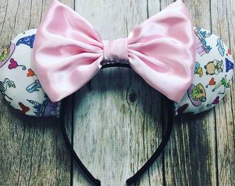 Minnie Mouse Ears Doodle Sketch Disneyland Favorites Castle Dumbo Teacups Tinkerbell Park Icons