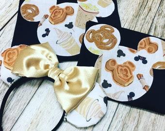 MINNIE MOUSE Inspired Family Vacation T-Shirt Tank Treats Mickey Waffles Pretzel Snacks Fabric