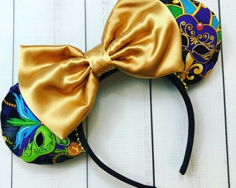 Mardi Gras Mask Minnie Mouse Ears Mascarade New Orleans Square