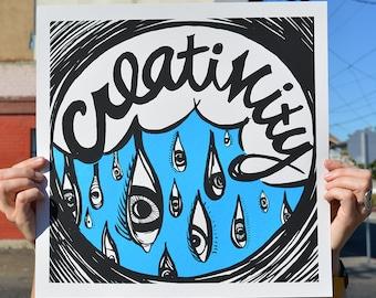 Creativity Screenprint Poster