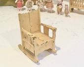 Vintage Rocking Chair Toy Cast Iron Kilgore German Dollhouse Furniture