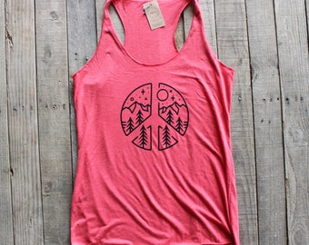 PEACE Woman's Pink Racerback Workout FestivalTank