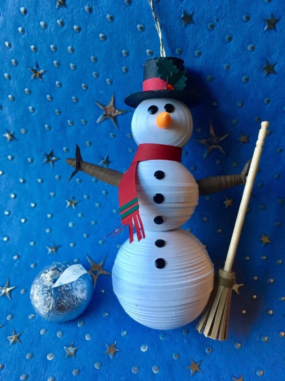 Snowman In Paper Quilling Christmas Ornament