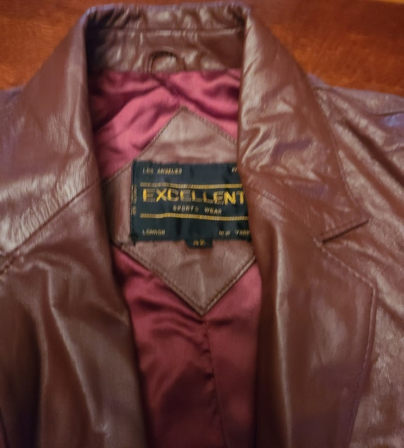 Genuine Leather Red/Burgundy Jacket