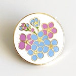 Forget-me-not Enamel Pin - Alzheimer's Charity Pin - Dementia Awareness Charity Pin - Forget Me Not Pin