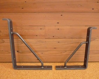 extra heavy duty 38x1 12 shelf bracket with support arm - Heavy Duty Bookshelves