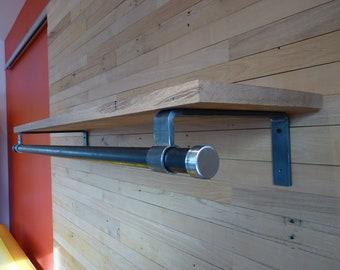 1 Bracket for closet rod/shelf - D series