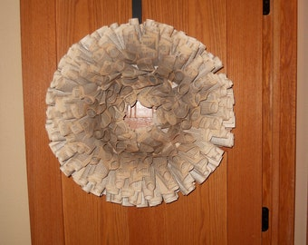 Beautiful 16 in book page wreath