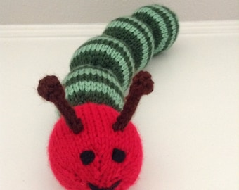 Stuffed Animal - Caterpillar - Knitted Caterpillar Soft Toy - Caterpillar Stuffed Toy - Soft Toy - Kids Toy