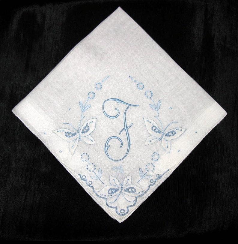 Vintage Handkerchief Wedding  Embroidered Bride Hankies  image 0