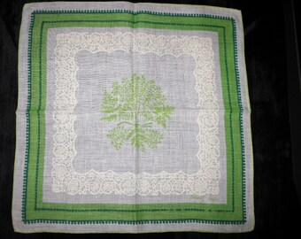Tammis Keefe Handkerchief, Designer Hankies 1950s Thomas Hankies