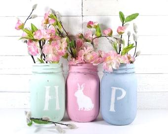 HOP, Easter Decor, Spring Decor, Cottage Chic Decor, Cute Home Decor, Rustic Home Decorations, Festive Home Decor, Easter Decorations