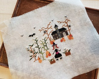Instant Pattern / Cross Stitch Pattern, Boo Berry Patch XStitch Pattern, Halloween Cross Stitch Chart, Witch Cross Stitch Pattern, PDF Chart