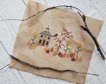 The Pumpkin Patch Cross Stitch Pattern, Embroidery Pattern, Fall X Stitch Chart, Counted Cross Stitch Pattern / Instant PDF Pattern