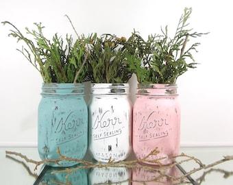 decorated mason jars etsy