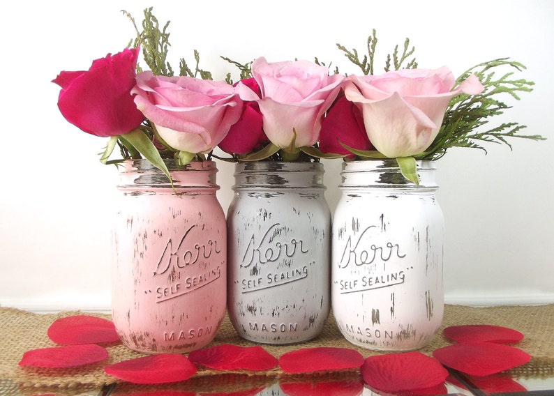 Rustic Wedding Decor Mason Jars Wedding Decoration Ideas Etsy