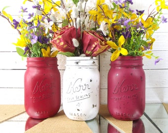 Mason Jar Centerpiece, Wedding Decor, Wedding Reception Decor, Decorative Mason Jars, Wedding Table Decor, Wedding Centerpiece