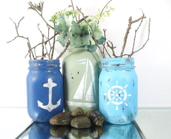 Beach Decor Nautical Beach Decor Ideas Mason Jar Decor Etsy