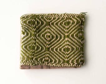 Olive Green Handwoven Fabric Wallet