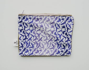 Flying Dove Fabric Print Wallet