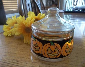 Jack O\u2019 Lantern Candy Corn Fused Glass Jewelry Set