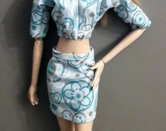 "2 piece set  jacket + skirt for 16""Fashion Doll Agency dolls"