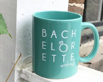 Bachelorette Weekend Coffee Mug; Charleston Bachelorette Party Coffee Mug