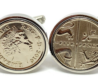 Premium 2001  American Dime for a 19th Birthday or Anniversary cufflink