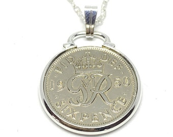 Fancy Pendant 1921 Lucky Sixpence 99th Birthday Plus a Sterling Silver 18in Chain