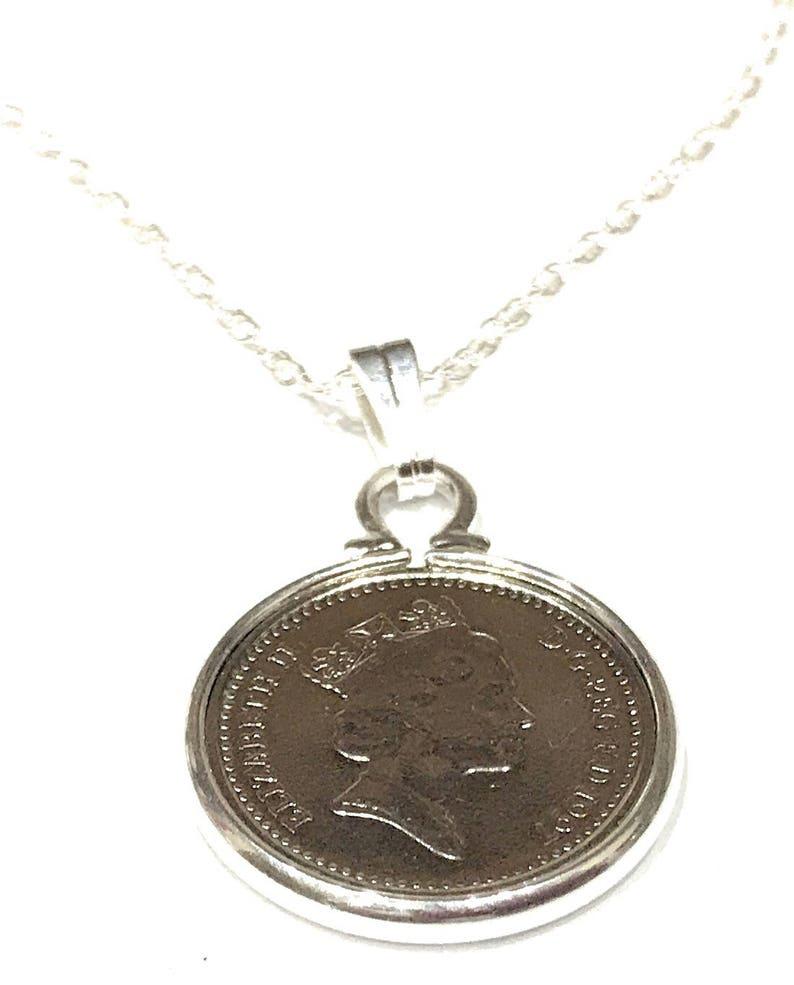 1946 73rd Birthday Anniversary Irish 3d coin pendant plus 20inch SS chain gift