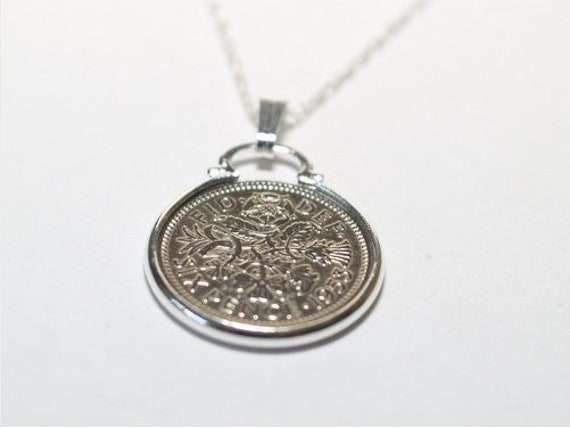 1995 24th Birthday Anniversary 1p Silver Plated Pendant /& 18in SS Chain
